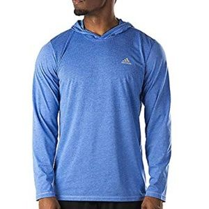 Adidas Men's Blue Aeroknit Long Sleeve Hoodie